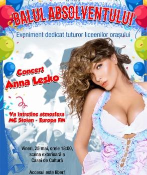 Anna Lesko va concerta la Mangalia pentru absolvenții de liceu