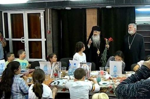 """Atelier de pictură icoane pe sticlă la biserica """"Nașterea Maicii Domnului"""" din Mangalia"""