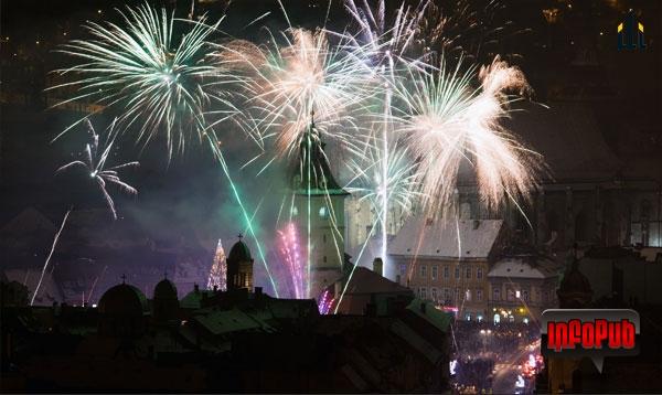 Foc artificii revelion 2014 Brasov