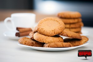 Biscuiti cu crema de alune si unt de cocos aranjati