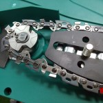 Sistem angrenare prindere lant Bosch AKE 30 S drujba electrica cu lant