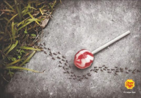 pubblicità creativa caramella