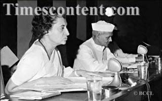 Indira Gandhi Union Minister with PM Lal Bahadur Shastri