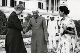 Indira Gandhi with Jawaharlal Nehru