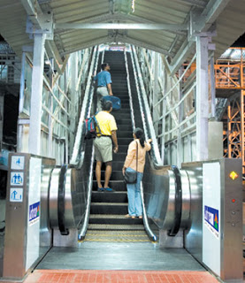 Escalator in Chennai Egmore Railway Station