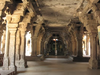 The 100 Pillars Hall in Rockfort Temple Trichy