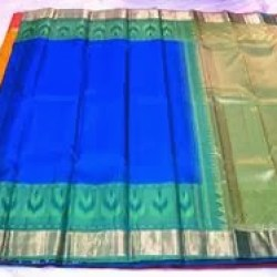 MS Blue-Kancheepuram Silk Saree