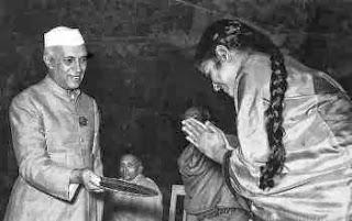 M.S. with Pandit Jawaharlal Nehru