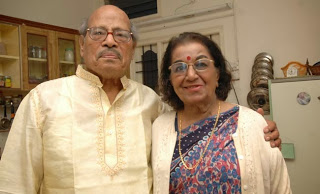 Manna Dey with his wife Sulochana in Bangalore