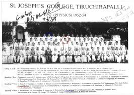 APJ Abdul Kalam  SJC B Sc Physics 1954 Group Photo