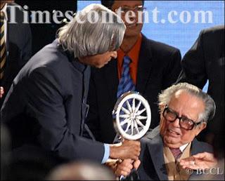 CNN IBN TV Life Time Award to RK Laxman