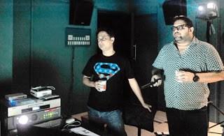 Audiographers Anirban Sengupta and Dipankar Chaki