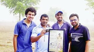 Directors of Goonga Pehalwan with Wrestler Virendar Singh