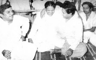 SSR with M Karunanidhi and Sivaji Ganesan
