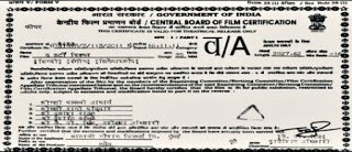 Adults Only Certificate by CBFC