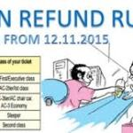 Revised Refund Rules for Cancellation of Train Tickets of Indian Railways/IRCTC