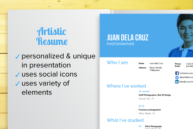 resume types by design inforati philippines
