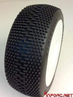 minitrail tire white wheel