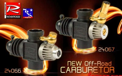 Novarossi añade un tornillo a sus carburadores para una carburación más precisa