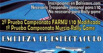 23 de Marzo, Primera prueba Camp. Murcia Rally Game y Segunda FARMU 1/10 mod.