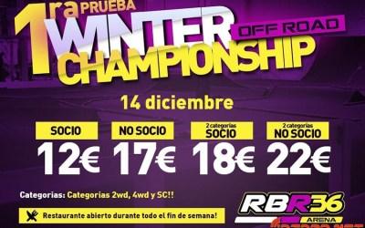 Este finde ¡Primera prueba del Winter Championship Off Road en el RBR36 Arena!