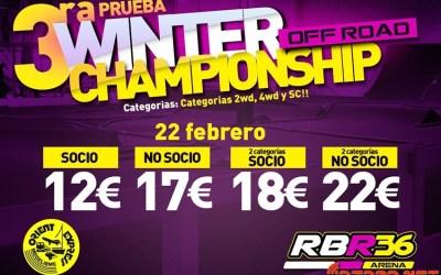 Este finde en RBR36 Arena: Tercera prueba del Campeonato de Invierno Off Road