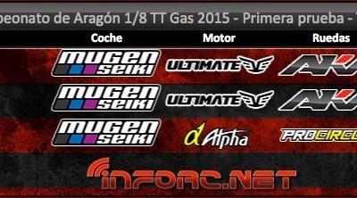 Crónica: Primera prueba del Cto. de Aragón 1/8 TT Gas 2015. Por Jorge Fernández.