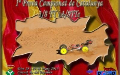 Este finde: Primera prueba del Cto. de Cataluña 1/8 TT Gas 2015