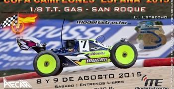 8 y 9 de Agosto - Copa de Campeones de España 1/8 TT Gas 2015