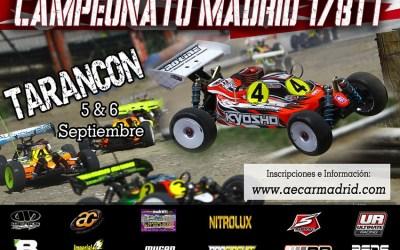 Inscripciones abiertas para la cuarta prueba del Regional Madrid 1/8 TT Gas