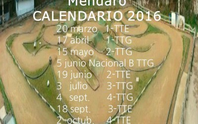 Calendario de carreras Club Avar Eztanda