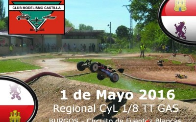 1 de Mayo - Tercera prueba del Campeonato Castilla y León 1/8 TT Gas 2016