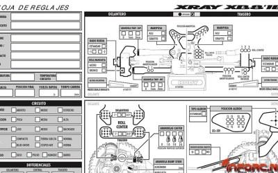Hoja de reglajes editable en Español XRay XB8 2016 - Descargas