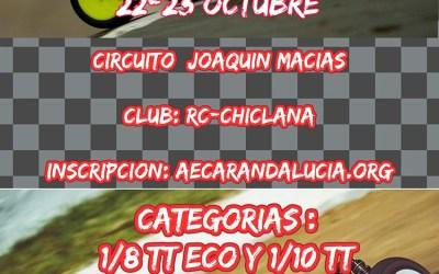 22 y 23 de Octubre - Campeonato de Cádiz 1/8 y 1/10 eléctrico en Circuito Joaquín Macías