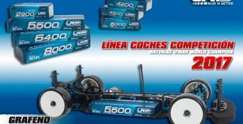 Nuevas baterías de grafeno de LRP para competición