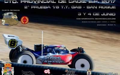 3 y 4 de Junio - Provincial de Cádiz 1/8 TT Gas en Club El Estrecho