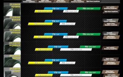 TPro, tabla de uso de neumáticos para cada situación