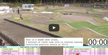 Video en directo - Euros 1/8 TT Gas Suecia, entrenamientos controlados. Enlaces a tiempos y resultados.