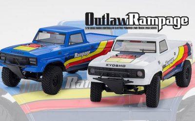 Kyosho presenta su nuevo outlaw rampage dessert racing truck. Video.