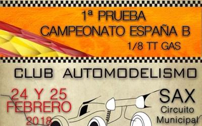 24 y 25 de Febrero - Comienza el Campeonato de España B 1/8 TT Gas 2017