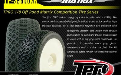 TPro presenta su primer neumático tipo indoor, el Matrix 3310