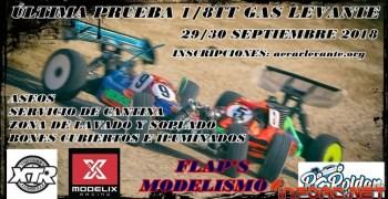29 y 30 de Septiembre - Ultima prueba Campeonato 1/8 TT Gas Levante 2018