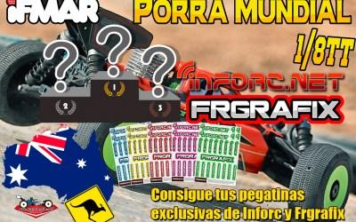 ¡Dinos tu porra para el mundial 1/8 TT gas y gana unas pegatinas con FRGrafix!