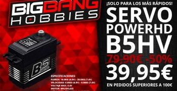 Servo Power HD al 50% en Big Bang Hobbies ¡Solo para los 5 primeros pedidos!