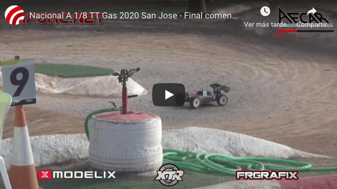 Video - Final del Nacional 1/8 TT-N en San Jose, comentada con Canas y Batlle