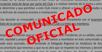 Comunicado - El Club RC Alhaurin de la Torre anuncia su desvinculación de AECAR