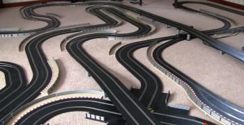 Circuito de Scalextric de 60 metros de cuerda
