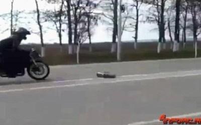 Video - Cuando en una carrera entre coche RC y moto, falla todo lo que puede fallar