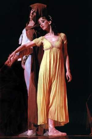 """Una scena dal """"Romeo e Giulietta"""" del Balletto Classico di Mosca"""