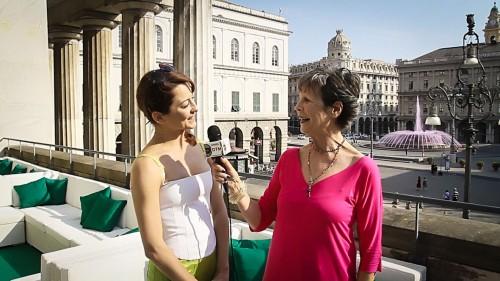 Anna Maria Prina a Genova insieme a Emanuela Montanari